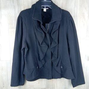 Style & Co. black Zip up Jacket